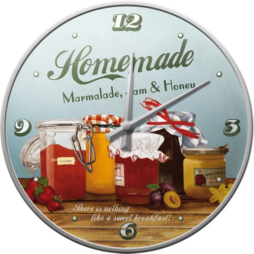 Nostalgic-Art 51036 Home & Country - Homemade Marmalade, wandklok 31 cm