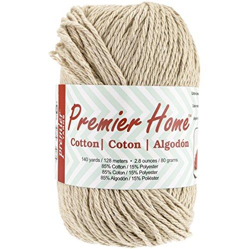 Premier Yarns Home Cotton Yarn, Solid Beige