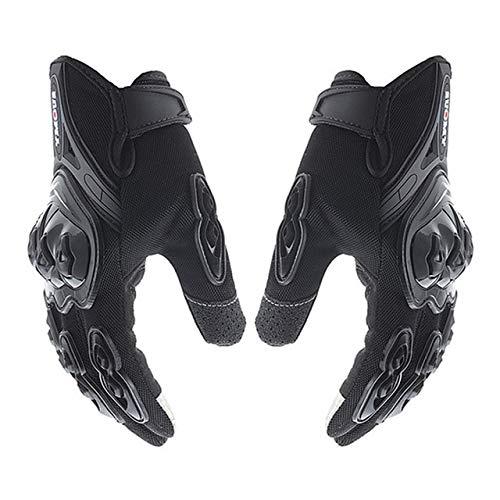 IAMZHL Motorradhandschuhe Herren Wasserdicht Winddicht Winter Moto Handschuhe Touchscreen Gant Moto Guantes Motorrad Reithandschuhe-SU-10 Black-2-L