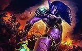 Póster Web World Of Warcraft Lady - Póster de videojuegos (30,5 x 45,7 cm), multicolor W-3506