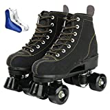 XUDREZ Roller Skates for Women Men High-top Roller Skates Four Wheels Roller Derby Skates Shiny...