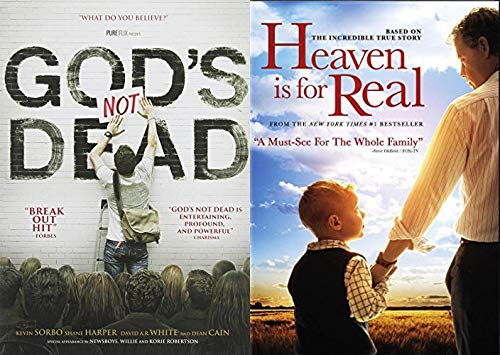 Feel Good Films With Reinforcement From Up Topside: God's Not Dead + Heaven Is Real - Religious Faith Based Bundle DVD