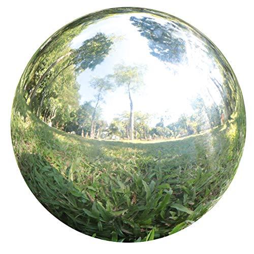 YeahaWo Gazing Balls for Garden, Home Outdoor Hollow Sphere Stainless Steel Gazing Globe Mirror Ball (12 Inch)