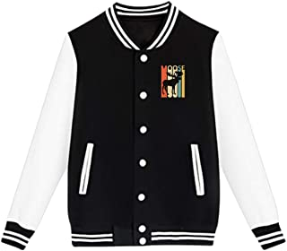 WFIRE Baseball Jacket Vintage Style Moose Custom Fleece Varsity Uniform Jackets Coats for Youth