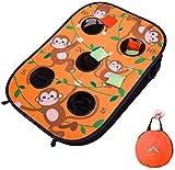 Himal Collapsible Portable 5 Holes Cornhole Game Cornhole Set Bounce...