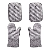 Best Oven Mitts - Nuovoo 4-Piece Oven Mitt and Pot Holder Set Review