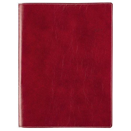 """Day-Timer Weekly / Monthly Appointment Book / Planner 2017, 8 x 11"""", Notebook Size, Red (33353)"""