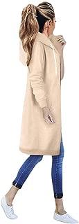Warm Zipper Open Hoodies Sweatshirt Long Coat Jacket Tops Outwear Women