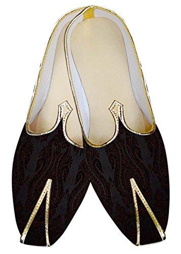 INMONARCH El Novio Vino púrpura Hombres Zapatos de Boda MJ012057S10 43 Vino...
