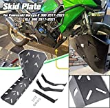 Lorababer Motorcycle Versys X 300 KLE 300 KLE-300 2017 2018 2019 2020 Protector del motor Bash Skid Plate for Kawasaki Versys-X 300 KLE300 17-20 Negro
