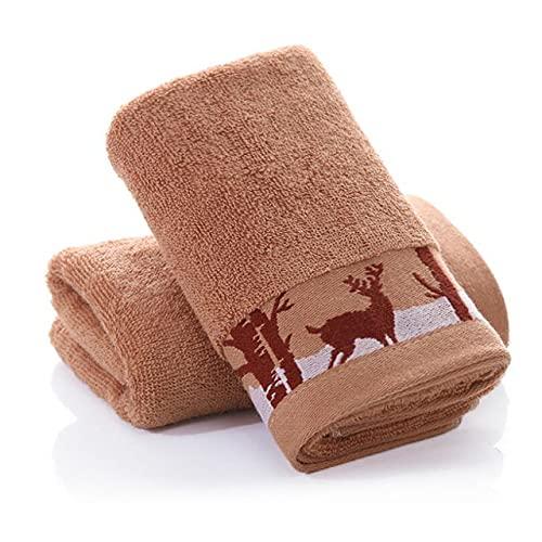 IAMZHL Toalla de Mano de algodón de absorción Fuerte de 2 Piezas, Toalla de baño para Adultos, Hombres, Mujeres, niños, Toallas de baño para la Cara, 24 Colores-a22-34X75CM