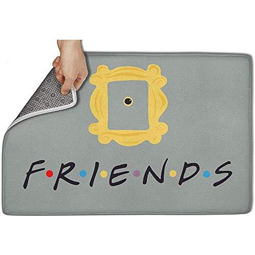 KL Decor Alfombra Entrada,Friends TV Show Card Alfombrilla Suave Antideslizante Interior/Dormitorio/Puerta Principal/Baño/Alfombras Kichten 40CM*60CM
