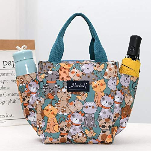 B/H Fiambrera compacta,Lonchera de Tela Oxford, Bolso Mommy Bag-Cat