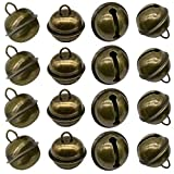 Maydahui 20PCS Vintage Jingle Bell 1 Inches Antique Decorative Tone Copper Bell for Pet Dog Cat Pendants Christmas Tree Crafts Decoration
