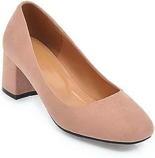BalaMasa Womens Solid Business Travel Urethane Pumps Shoes APL10410
