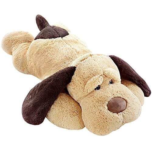 MorisMos Puppy Dog Stuffed Animal Soft Plush Dog Pillow Big Plush Toy for Girls Kids (Small-31 Inch)