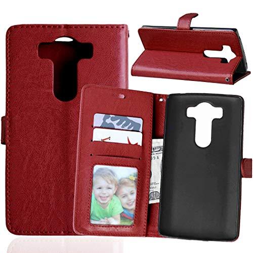 JEEXIA® Etui Schutzhülle Für LG V10, Mode Geschäft PU Leder Lederhülle Flip Cover Brieftasche Innenschlitzen Mit Stand Function Design - Brown