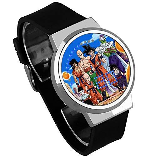 Relojes De Pulsera,Pantalla Táctil Led Reloj Siete Dragon Ball Super Saiya Luz Nocturna Impermeable Observación Alrededor De La Animación