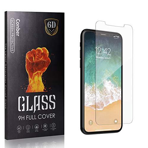 Conber Panzerglasfolie für iPhone 11 Pro, [4 Stück] 9H gehärtes Glas, Blasenfrei, Kratzfest, Hochwertiger Hülle Freundllich Panzerglas Schutzfolie für iPhone 11 Pro