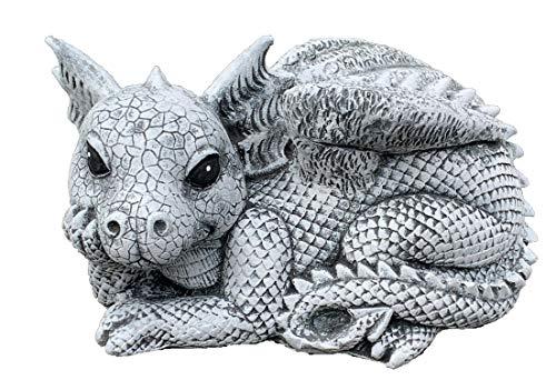 Stone and Style Steinfigur Drache Rudolfo frostfest wetterfest Gartenfigur