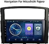 Lour 9 Pulgadas Android 8.1 Dispositivos de navegación GPS para el Reproductor Multimedia Ultra-Delgada Mitsubishi Montero 2006-2014 AUX / / Bluetooth/Volante/LLINK Espejo USB,WiFi, 1.
