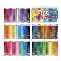 oshhni 120/150色水彩鉛筆、水溶性色鉛筆鉛筆美術学生専門家-盛り合わせマルチ色スケッチ着色ページ - 150色