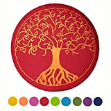 maylow - Yoga mit Herz ® Yogakissen Meditationskissen mit Stickerei