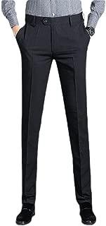 neveraway Men's Business Slim Fitting Wrinkle-Resistant Easy Care Dress Pants