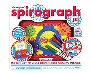 CREATED WITH JUNIOR ASPIRING ARTISTS IN MIND! The large design gears are easy to work with, and our instruction guide shows young imaginations how to turn Spirograph designs into awesome pictures! ASPIRING ARTIST OF ALL AGES can draw colorful, spiral...