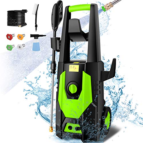 Product Image of the mrliance 3600PSI Electric Pressure Washer 2.4GPM Power Washer 1800W High Pressure Washer Cleaner Machine with 4 Interchangeable Nozzle, Best for Cleaning Patio, Garden,Yard,Vehicle (Green)