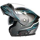 STRTG Bluetooth Modular Motocicleta Casco, Dot Certificado M