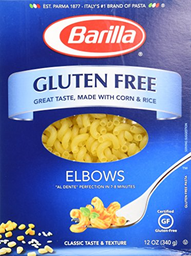 Barilla Gluten Free Elbows 12 Oz (Pack of 3)