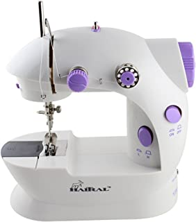 HAITRAL Portable Sewing Machine Adjustable 2-Speed Double Thread Electric Crafting..