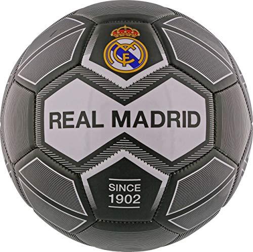 Real Madrid Fußball, Unisex, für Kinder, Schwarz, Größe 5