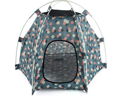 ペットテント 折りたたみ式 犬の家 ポータブル ペットベッド キャンプ テント 屋外 屋内 オレンジ (グレー)
