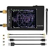 Cobeky Analizador de red vectorial NanoVNA-H, kit de analizador de antena VNA portátil con pantalla LCD de 10 KHz-1,5 GHz, táctil de 2,8 pulgadas