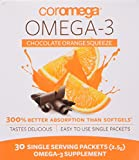 COROMEGA Squeeze Nutritional Supplement, Chocolate, 30 Count
