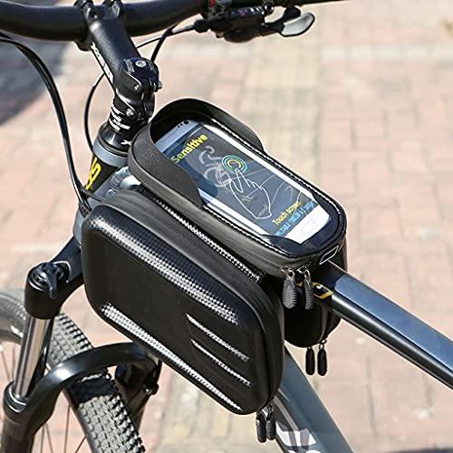 YZX Bolsa Bici, Bicicleta de montaña/Carretera Deportes al Aire Libre conducción teléfono móvil Pantalla táctil Carcasa rígida Bolsa de Tubo Superior, Compatible con teléfonos móviles de 6.5 Pulgadas