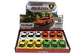 KiNSMART Lamborghini Huracan LP610-4 Diecast Car Package - Box of 12 1/36 Scale Diecast Model Cars, Assorted Color