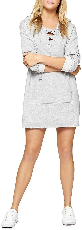 Sanctuary Womens Lower East Hooded Above Knee Sweatshirt Dress