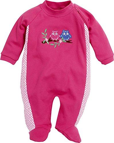 Schnizler Baby-Mädchen Schlafoverall Interlock Eulen Schlafstrampler, Rosa (Pink 18), 56