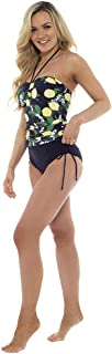 Tom Franks Womens/Ladies Lemon Print Tummy Control Tankini/Bikini