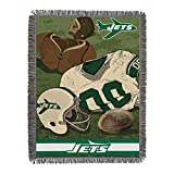 NFL New York Jets Vintage Woven Tapestry Throw Blanket, 48' x 60'