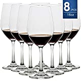 16 Ounce Set of 8,Hand Blown Crystal Wine Glasses Red/White Wine Glass Made from 100% Lead Free Premium Crystal Glass, Perfect for Any Occasion