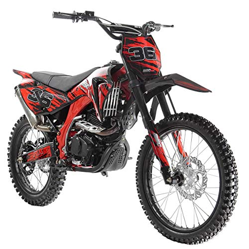X-PRO 250cc Dirt Bike Pit Bike Gas Dirt Bikes Adult Dirt Pitbike 250cc Gas Dirt Pit Bike,Red