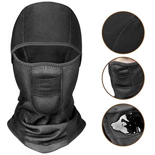CAPUAY Pasamontañas Máscara de esquí Pasamontañas Térmica Transpirable A Prueba De Viento Pasamontañas pra Bicicletas Moto Ciclismo Máscara Negro