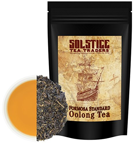 Pure Oolong Loose Leaf Tea (16 Ounces-Bulk Tea), Formosa Standard Taiwan Oolong Tea, 175+ Cups Per Bag (1 Lb.)