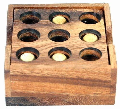 Logica Juegos Art. Puzzle Golf - Rompecabezas de Madera - Dificultad 3/6 Difícil - Colección Leonardo da Vinci