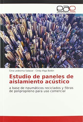 Estudio de paneles de aislamiento acústico: a base de neumáticos reciclados y fibras de polipropileno para uso comercial