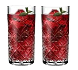 Ash & Roh - Crystal Highball Glasses, Beautiful Designed Drinking Tumblers for Water, Juice, Wine, Beer, and Cocktails, Tumbler - 280 ml (2)